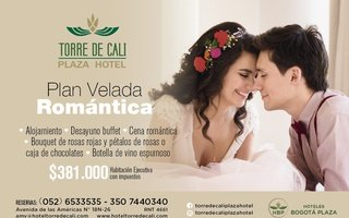 Have a Romantic Evening at Hotel Torre de Cali: 