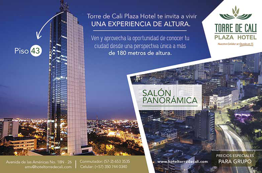 Our imposing Cali Tower and from the Panorámica room located ...