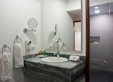 Modern, big and comfortable bathrooms